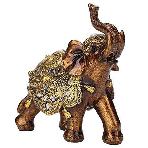 SALUTUYA TV Cabinet Craft Decoration, Elefantenform Ornament, schönes Kunstharz für die Wertschätzung für Home Decoration für die Dekoration für die(Golden Tuba)