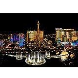Scratch Paper, Rainbow Scratch Art Las Vegas World Famous Attractions Dibujo Scratch Láminas para Rascar Creativas Papel para Dibujar con Ni?os, Manualidades Scratch Sketch,Black