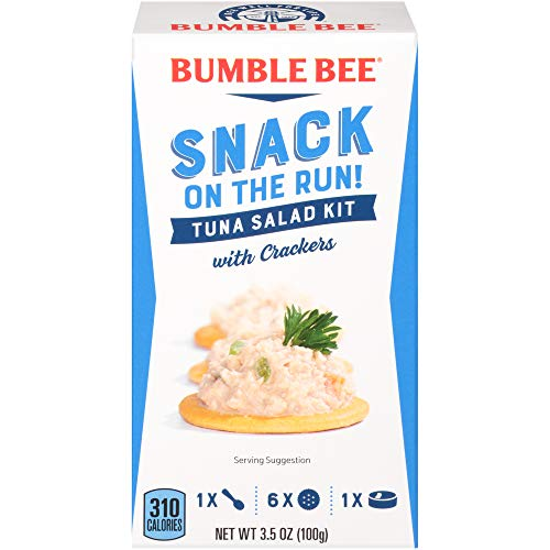 BUMBLE BEE Snack on the Run Tuna Salad with Crackers, Canned Tuna Fish, High Protein Food, 3.5 Ounce (Pack of 12)