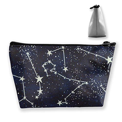 Glow in The Dark Constellations Midnight Artist Sac de rangement réglable pour cosmétiques, pinceaux de maquillage, produits de toilette