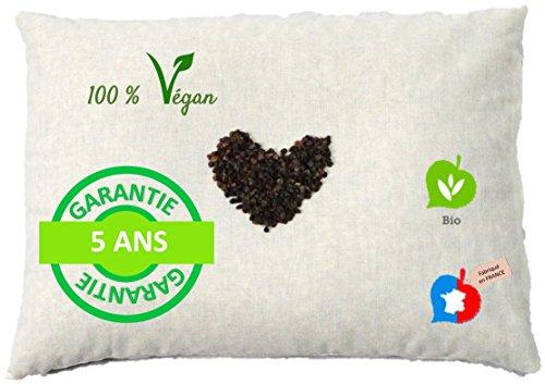 La Cocarde Verte - Oreiller Sarrasin Bio - Oreiller Coton Bio et...
