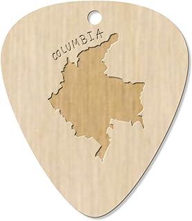 7 x 'Columbia Country' Guitar Picks / Pendants (GP00013202)