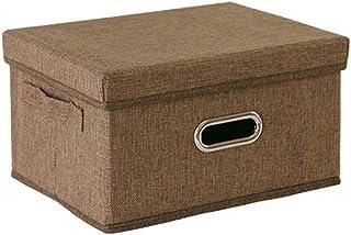 Boîte de Rangement de vêtements avec Couvercle boîte à Jouets en Tissu de Toile de Couvercle Boîte de Rangement Pliable GV...