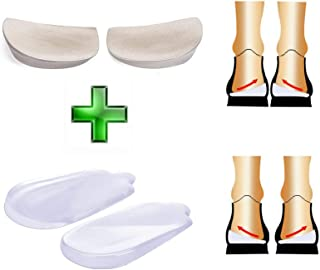 NEPPT Orthopedic Insoles Heel Inserts Lift Shoe Wedge Silicone Knee Pads Women and Men Corrective Pronation, Supination, Medial, Lateral