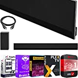 LG GX Soundbar High Res Audio Sound Bar with Dolby Atmos 3.1ch 420w OLED Gallery TV GX Series Matching Bundle w/Wireless Subwoofer + Deco Gear HDMI Cable + 1YR Extended Care + Streaming Software Kit