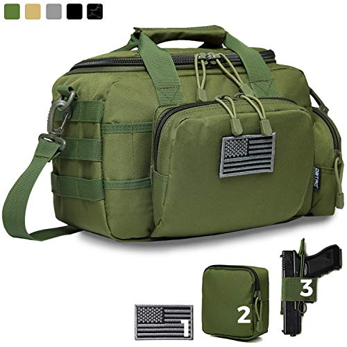 Best Price DBTAC Gun Range Bag Small | Tactical 2X Pistol Shooting Range Duffle Bag with Lockable Zi...