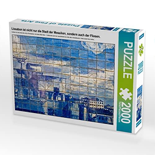 CALVENDO Puzzle Lissabon ist Nicht nur die Stadt der Mosaiken, sondern auch der Fliesen. 2000 Teile Lege-Größe 90 x 67 cm Foto-Puzzle Bild von Ingo Paszkowsky