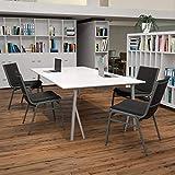 Flash Furniture 4 Pack HERCULES Series Heavy Duty Black Vinyl Stack Chair