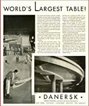 World's alrgest Table in 1931 Danersk Furniture Company Advertisement (2) Original Paper Ephemera Authentic Vintage Print Magazine Ad/Article