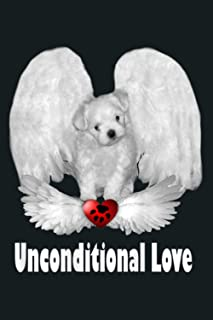 Puppy Love Dogs Angels With Unconditional Love Maltese: Notebook Planner - 6x9 inch Daily Planner Journal, To Do List Note...
