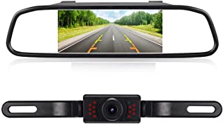RAAYOO High Definition Color Wide Viewing Angle License Plate Car Rear View Camera with 4.3 TFT Color LCD Monitor (L013+S4-005)