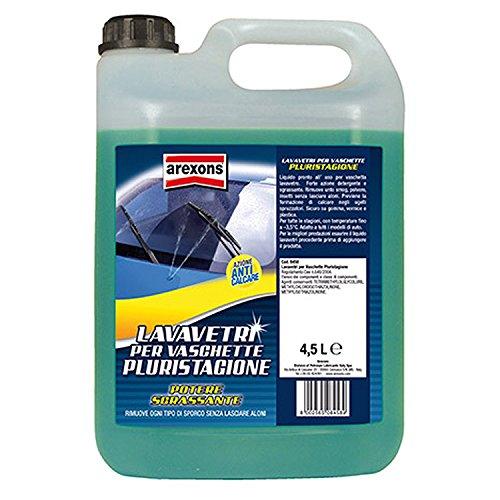 AREXONS LAVAVETRI PLURISTAGIONE -3.5 °C Liquido lavavetri auto 4.5 l liquido tergicristalli pronto all\'uso, detergente vetri auto, azione sgrassante, rimuove ogni tipo di sporco, azione anticalcare