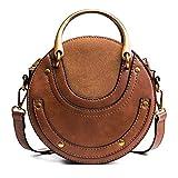 Krosiny Kyla Tambourine Crossbody Bag (Brown)