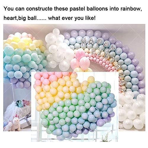 100 PC-Macaron Blloon Pastell Lila, Blau, Süßigkeit Farbige Naturlatexballons For Geburtstag, Hochzeit, Partydekoration Bunter Ballon-10INCH (Ballon Size : 10inch, Color : Macaron MULTI)