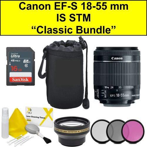 Classic Bundle EF-S 18-55 mm f/4-5.6 IS STM lente (embalaje a granel- caja blanca) nueva versión