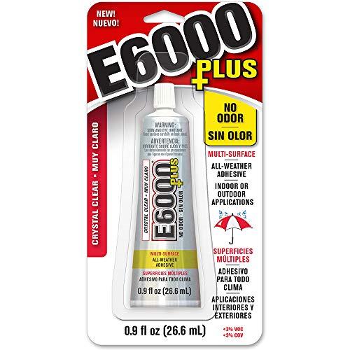 Eclectic 570110, Clear 0.9 Fl Oz E6000+Plus Multipurpose Adhesive-0.9oz, 0.9 oz 9