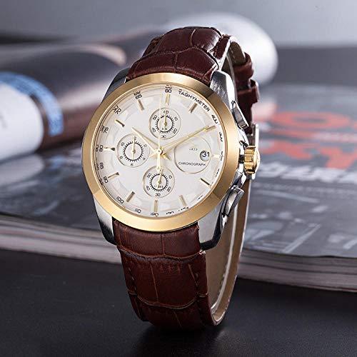 Powzz ornamento reloj clásico para hombre 3