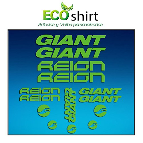 Ecoshirt K3-HTVP-N1EC Sticker Frame Giant Reign Am30 Stickers Decals Bike BTT MTB Cycle Green