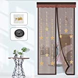 EKKONG Mosquitera magnética para puerta, protección contra insectos, la cortina magnética es ideal para puertas de balcón, sótanos y terrazas, montaje sencillo sin necesidad de taladrar