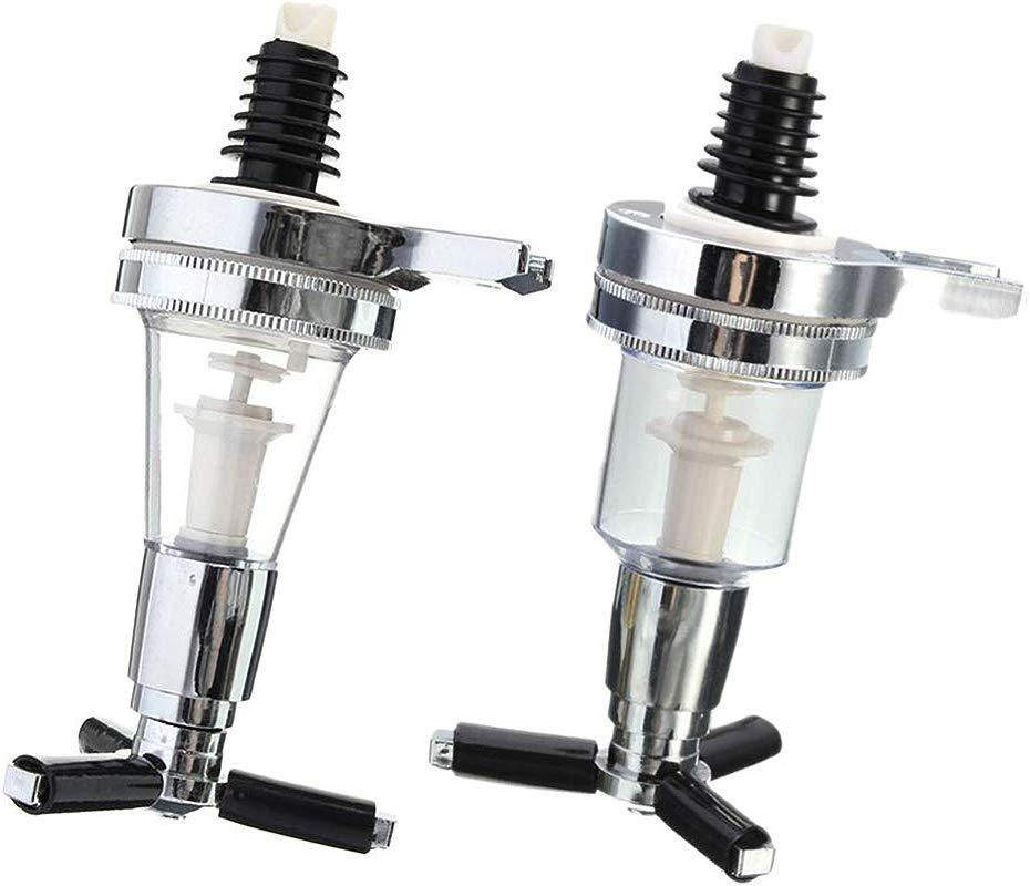 Prettyia 2 Pieces Replacement Nozzle Shot Dispenser For Revolving Liquor Caddy Bottle Holder 30ml 45ml