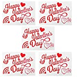 SOIMISS 5 adhesivos con forma de corazón de San Letras para globos, diseño de bobo, para globos decorativos para fiestas (Feliz San)