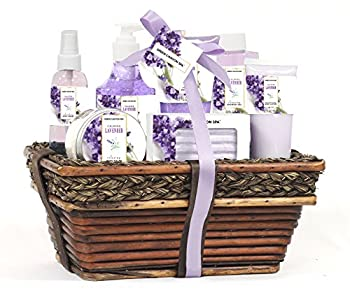 Green Canyon Spa Luxury Wicket Basket Gift Set