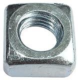 AERZETIX - Juego de 50 tuercas cuadradas M8 biseladas 13.0x6.0mm rosca métrica - en acero al carbono dureza 5 - DIN 557 - C49553