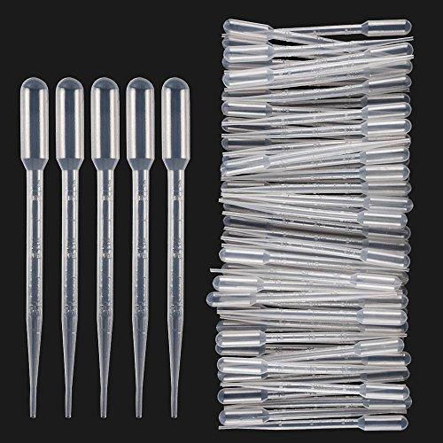 TOOGOO 3ML pipettes de transfert Eye Dropper Pack de 150 - Huiles essentielles Pipettes Makeup Tool