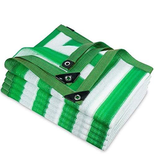 YAOJIA Malla sombreadora, Las Rayas Verdes Shade Neto Pantalla de Tela cifrado Espesado Protector Solar Acoplamiento de la Red Edge Jardín Cubierta de la Cortina UV Resistente-6x6ft-2x2