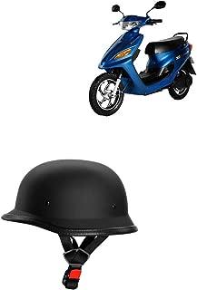 Adroitz All Purpose Safety Helmet with Strap for Suzuki Let's (Black)