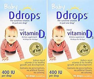 Ddrops Baby 400 IU,90滴2.5毫升(2包裝)