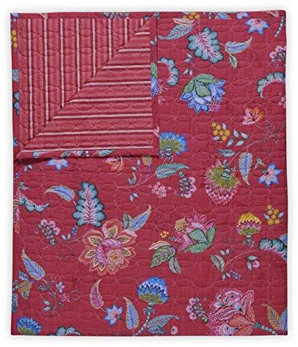 Pip Studio Tagesdecke Jambo Flower Farbe Rot Größe 220x260cm