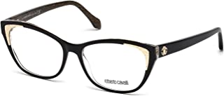 Roberto Cavalli RC5033 Eyeglass Frames - Shiny Black Frame, 54 mm Lens Diameter RC503354001