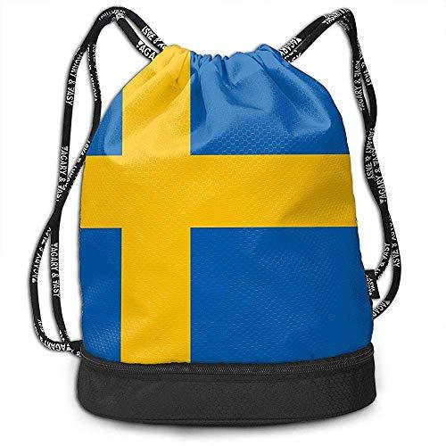 Bernie Dodd Rucksack Mit Kordelzug Sport Gym Sackpack Rucksack Mit Kordelzug Sport Gym Sackpack Rucksack Mit Schwedischer Flagge