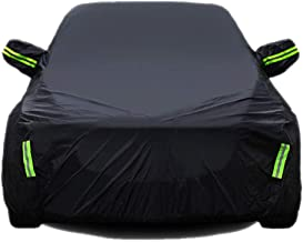 Car Cover Compatible with Honda VEZEL Used Throughout The Year Dustproof Scratch Resistant Flame Retardant Car Covers (Color : Black, Size : Single Layer)