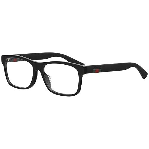 49eaf6f4432 Gucci GG0176OA Plastic Rectangular Eyeglasses Size 56 mm