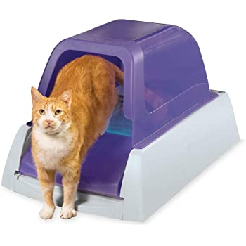 PetSafe ScoopFree Ultra Automatic Self Cleaning Hooded Cat Litter Box – Includes Disposable Trays with Crystal Litter and Hood - 2 Colors