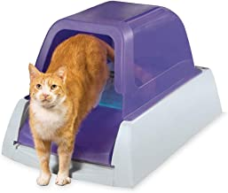 PetSafe ScoopFree Ultra Automatic Self Cleaning Hooded Cat Litter Box – Includes Disposable Trays with Crystal Litter and ...