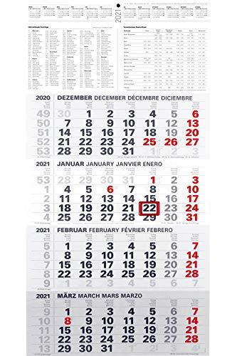 4-Monatskalender 2021 XXL 3-Monatskalender Bürokalender großer Wandkalender