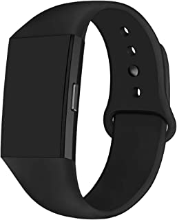 GHIJKL Sports Band Compatible Fitbit Charge 2, Soft Silicone Replacement Wristband for Fitbit Charge 2,Women Men, Large Small