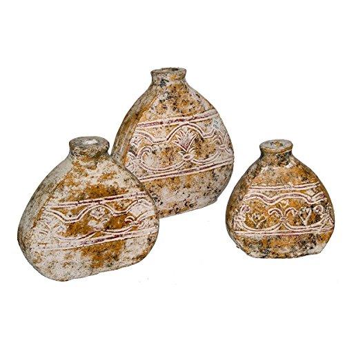 Discount Etnico - Vaso Anfora Greca Set da 3 Misura H19 cm