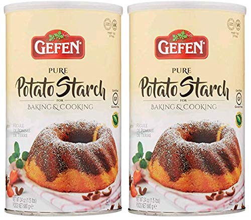 Gefen Pure Potato Starch, 24oz (2 Pack) Total 3lb Resealable Container Gluten Free
