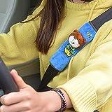 Kxlqh Paquete De 2 Almohadillas De Cinturón De Seguridad De Coche De Felpa De Pato Amarillo De Dibujos Animados Lindos Para Niños, Cómodo Cinturón De Seguridad De Conducción, Cubierta Protectora De Va