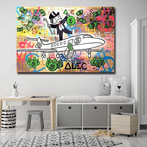 wojinbao DIY Digital Painting-by Numbers Kits-Flugzeug modernes Geld Wohnzimmer Schlafzimmer Studie Home Decoration Drucke(Kein Rahmen)