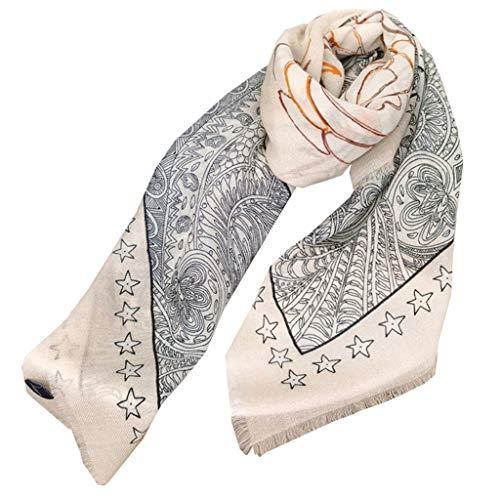 Clida Camelia Cashmere Bufandas Large Square Shoil Wild Shawl Ladies Otoo e Invierno Warm Travel Wraps Cozy (Color : Gray)