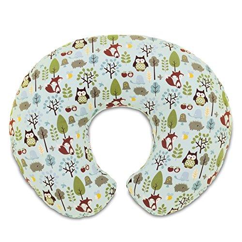 Boppy Stillkissen für Säuglinge 0+ Monate, Ergonomische Form mit Miracle Middle Insert - Stillkissen und Babynest fürs Stillen, Sitzkissen Baby, Woodsie