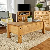 Home Source Coffee Table, Pine Wood, Large