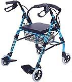 OUWTE con Pedal para Ancianos Carrito de Compras Carrito de Viaje Puede Sentarse Plegable con Ruedas