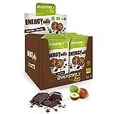 OVERSTIM.s -Energy Ball (12 Bolsas) - Chocolate-Avellana - Tentempié Energético Para El Deporte - Bio - Vegano - Sin Gluten 48 g