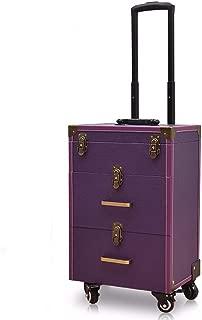 Purple Manicure Box Cosmetic Case Toolbox Tie Rod Multi-Layer Large Capacity